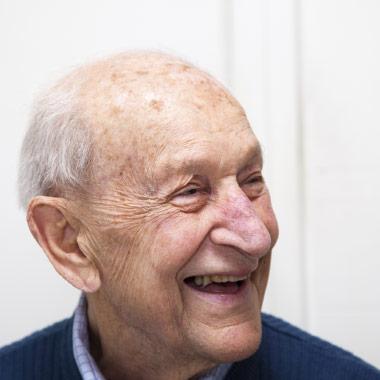 Senior man having speech therapy